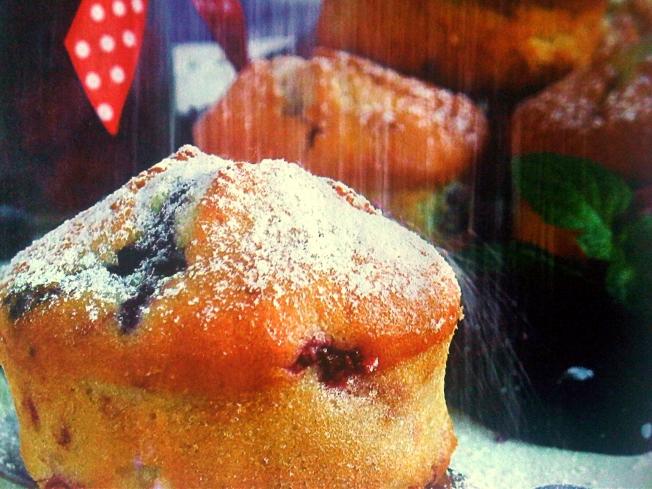 black forest fruit muffins